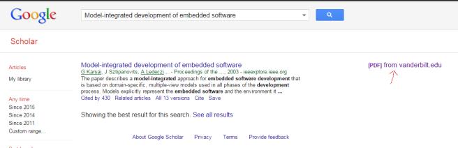 Google scholar!