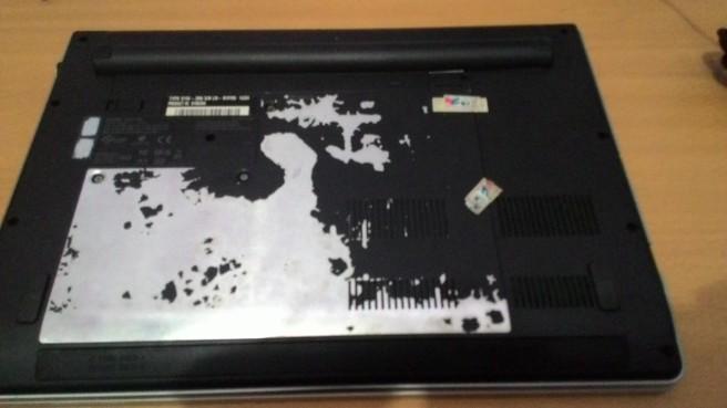 Bagian belakang laptop saya
